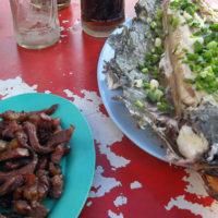 焼き魚とビーフジャーキー