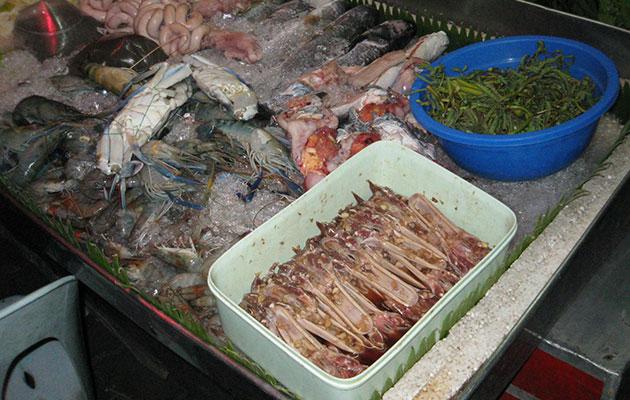 魚介類やパークペッなどの食材