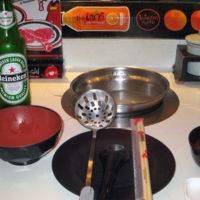 Shabushi の箸とお皿と1人鍋