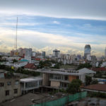 バンコク都内の夕暮れ前の景色