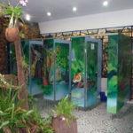 サファリパーク内の面白いデザインのトイレ