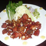 豚肉の軟骨から揚げと生野菜