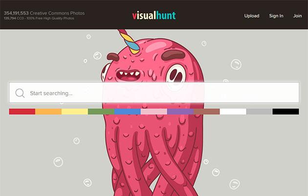 高画質な無料写真画像を「Visual Hunt」で検索