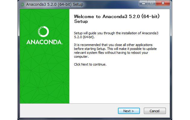 Anaconda のインストール