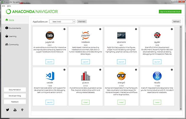 Anaconda から Jupyter Notebook を起動